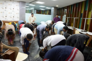 Corporate Yoga With Phoenix Marketcity Resources On International Yoga Day 2018